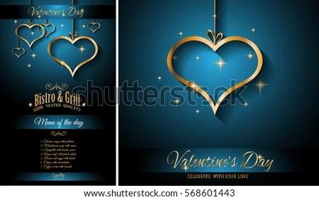 Valentines Day Restaurant Menu Template Background Stock Photo - event menu template