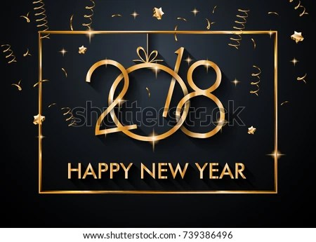2018 Happy New Year Background Your Stock Vector 739386496