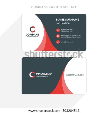 Creative Clean Doublesided Business Card Template Stock Vector