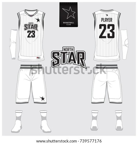 Basketball Jersey Shorts Socks Template Basketball Stock Vector