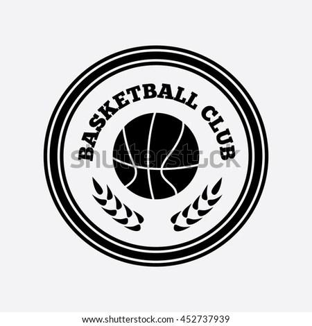 Basketball Logo Basketball Emblem Template Basketball Ball Stock - black and white basketball template