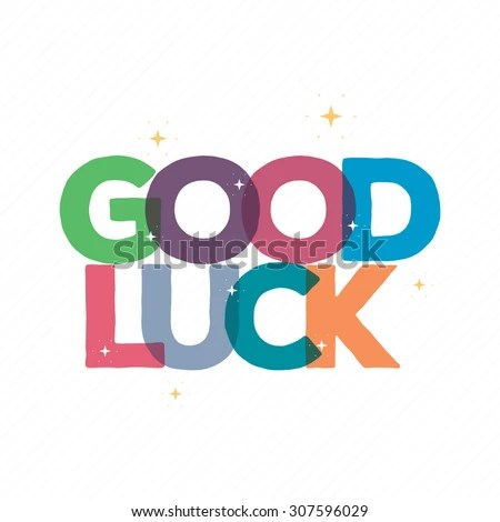 Good Luck Typography Card Design Greeting Card Stock Vector - good luck card template