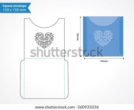 Laser Cut Pocket Envelope Template Wedding Stock Vector (Royalty - pocket template