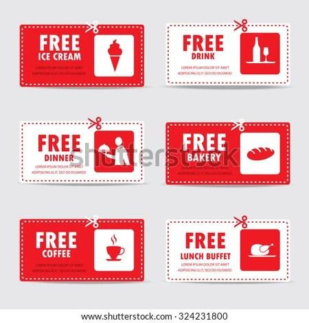 Gift Voucher Certificate Coupon Food Menu Stock Vector HD (Royalty