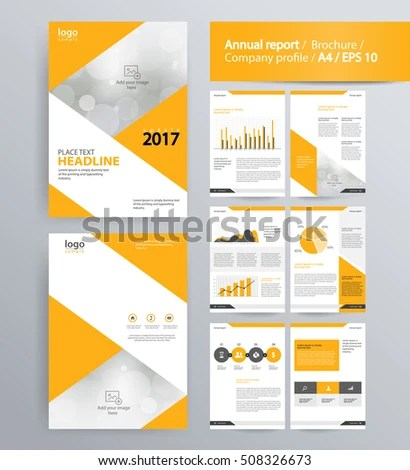 Page Layout Company Profile Annual Report Stock Vector 508326673 - company profile