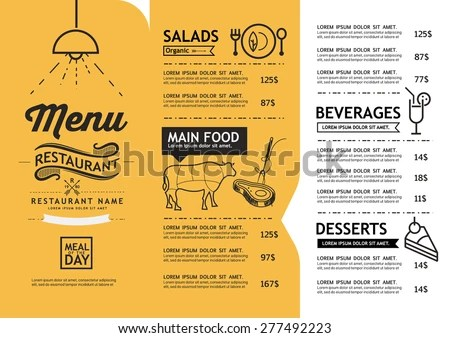 Vector Menu Template Stock Images, Royalty-Free Images  Vectors
