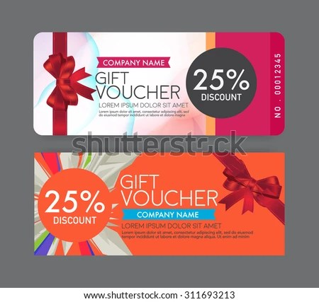 Gift Voucher Template Stock Vector 311693213 - Shutterstock