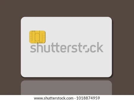 Card Privilege White Empty Blank Credit Stock Vector 1018874959 - printable credit card template