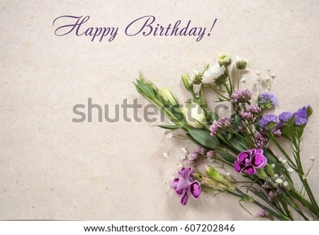 Greeting Card Sample Text Happy Birthday Stock Photo (Safe to Use