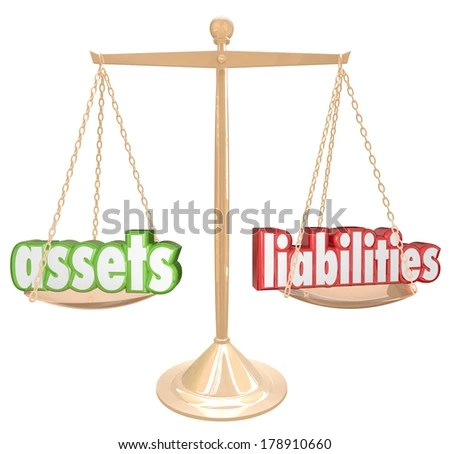 Assets Vs Liabilities Net Worth Gold Stock Illustration 178910660 - assets liabilities net worth