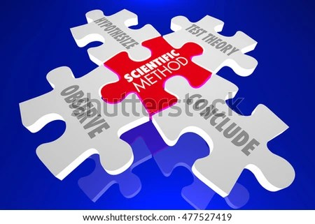 Scientific Method Science Experiment Theory Puzzle Stock
