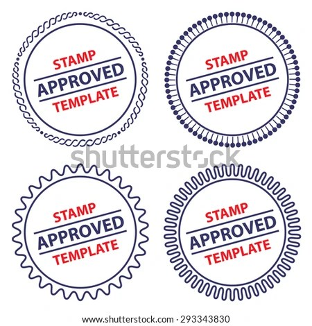 Circle Stamp Template Security Design Stock Vector (2018) 293343830