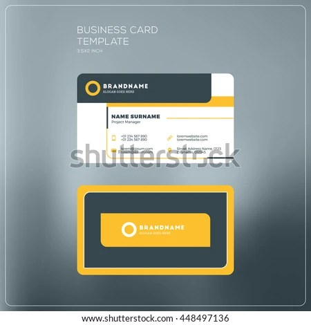 Corporate Business Card Print Template Personal Stock Vector - printable credit card template