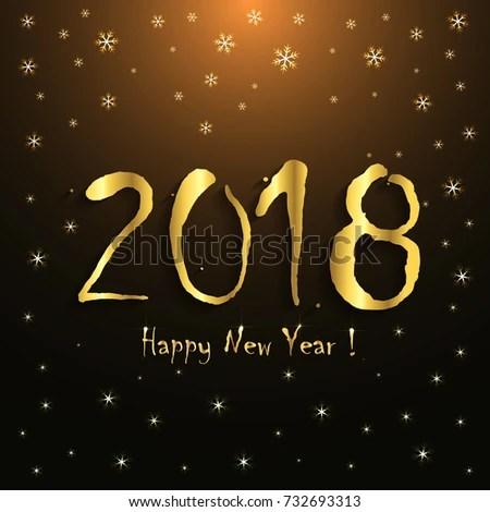 2018 Happy New Year Greeting Card Stock Photo (Photo, Vector
