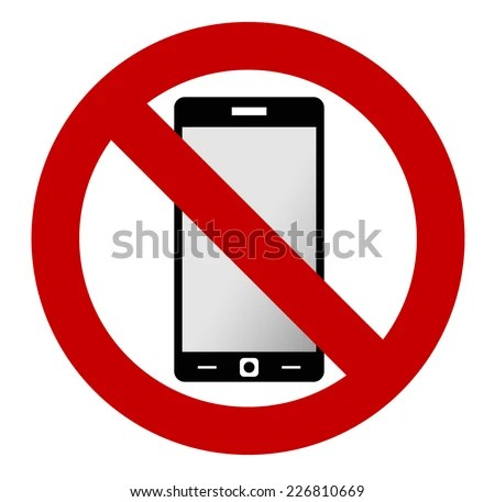 No Mobile Phone Allowed Sign Turn Stock Vector 226810669 - Shutterstock - Turn Off Cell Phone Sign