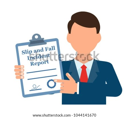 Slip Fall Incident Report Stock Vector HD (Royalty Free) 1044141670