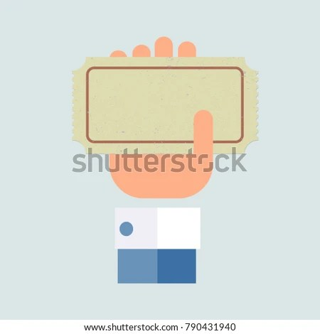 Ticket Old Paper Template Flat Design Stock Vector 790431940 - ticket paper template