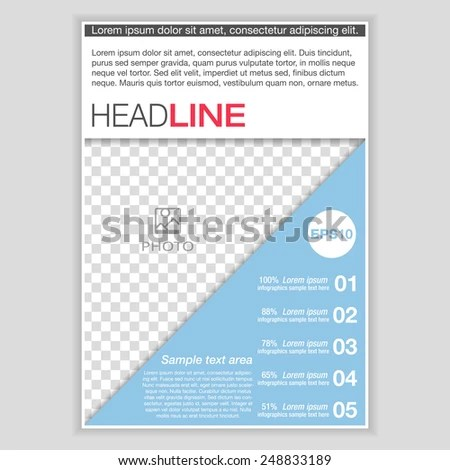 Creative Brochure Template Design Infographic Chart Stock Vector - pamphlet layout template
