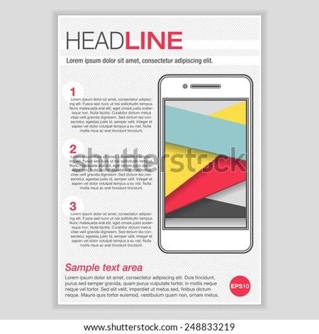 Creative Brochure Template Design Smartphone Mock Stock Vector HD - pamphlet layout template