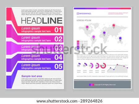 Creative Brochure Template Design Infographic Chart Stock Vector - pamphlet sample