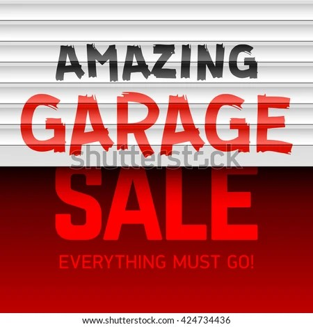 Amazing Garage Sale Poster Template Vector Stock Vector 424734436 - for sale poster template
