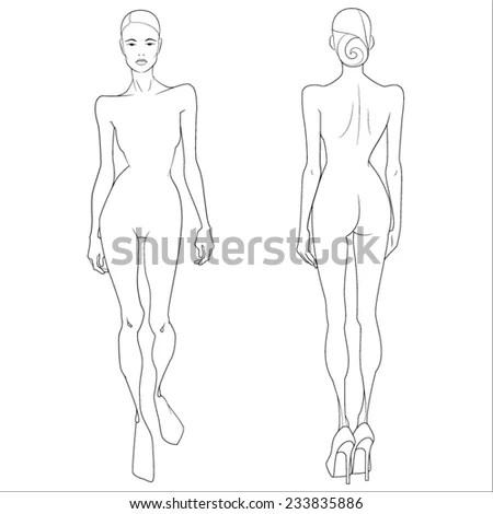 Template Figure Girl Model Stock Vector 233835886 - Shutterstock - model template