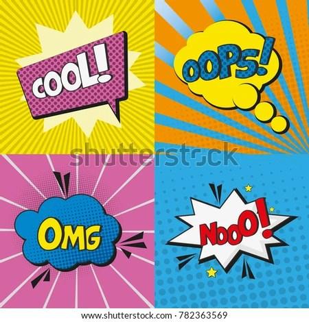 Pop Art Bubble Design Stock Vector 782363569 - Shutterstock