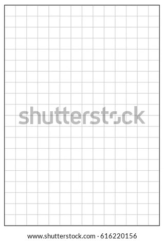 2 Inch Grid Printable Graph Paper Black Stock Vector 616220156
