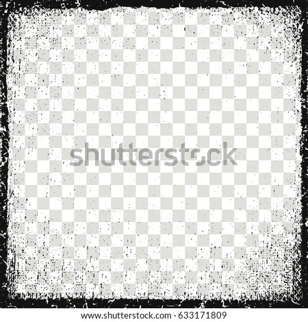 Vector Illustration Frame Image Grunge Dirt Stock Vector (Royalty - black border background