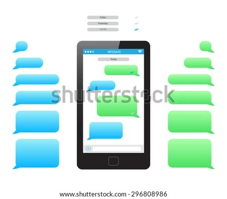 Phone Message Template Stock Photo (Photo, Vector, Illustration