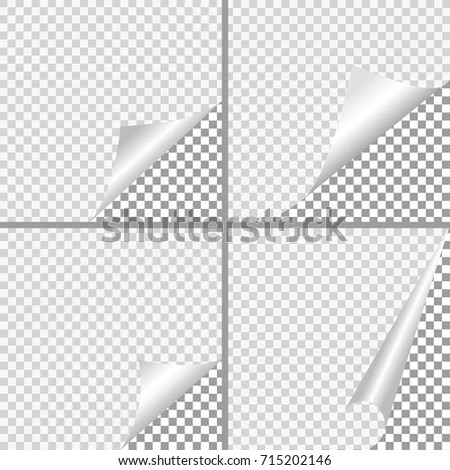 Set Pages Curl Shadow On Blank Stock Illustration 715202146 - Culring Pajis