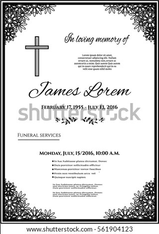 Funeral Card Stock Images, Royalty-Free Images \ Vectors - invitation for funeral