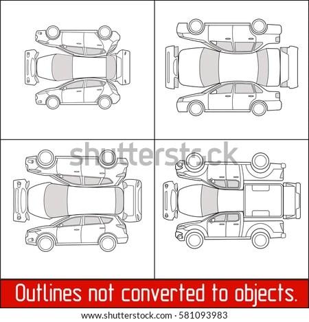 Car Sedan Hatchback Suv Pickup Vehicle Stock Vector 581093983 - vehicle inspection form