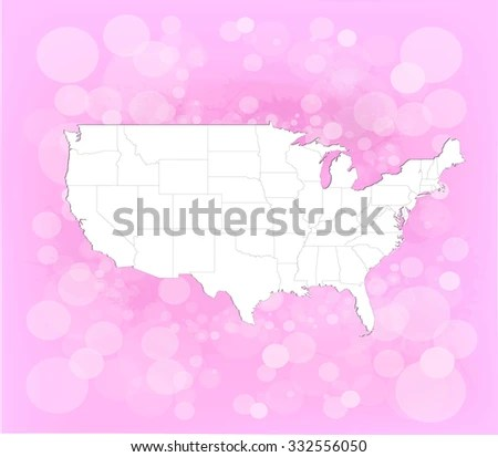 United States America Map Background Vector Stock Vector 332556050