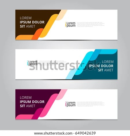 Vector Abstract Design Banner Template Stock Vector 649042639 - template