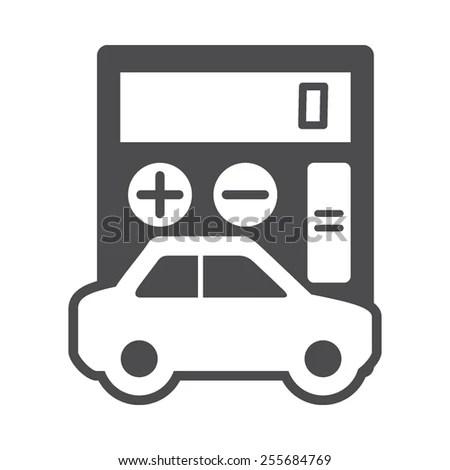 Auto Loan Calculator Vector Image Be Stock Vector 255684769 - auto loan calculator