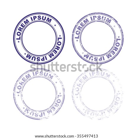 Set Rubber Stamp Documents Abstract Stamps Stock Vector (Royalty - stamp template