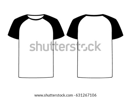 White Vector Males Females Tshirt Template Stock Vector 631267106 - t shirt template