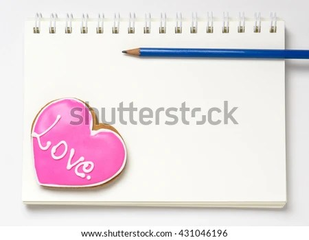 Love Diary Note Book Blank Page Stock Photo  Image (Royalty-Free - blank diary page