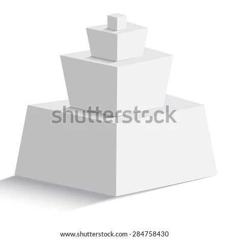 Isolated Blank Pyramid Four Geomertric Objects Stock Photo (Photo