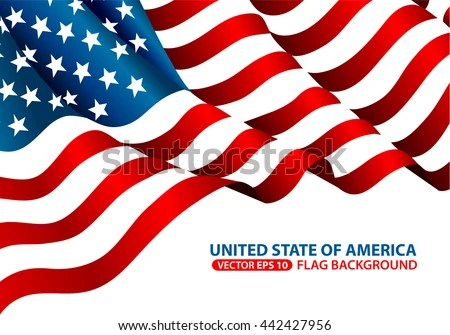 United State America Flag Background Vector Stock Vector (Royalty - America Flag Background