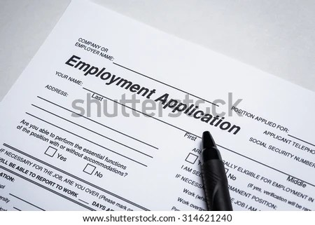 Completing Job Application Form Focus On Stock Photo (Download Now