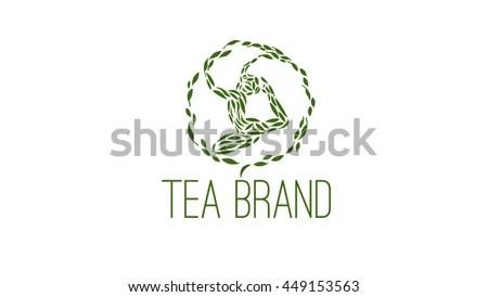 Tea Vector Logo Template Tea Brand Stock Vector 449153563 - Shutterstock
