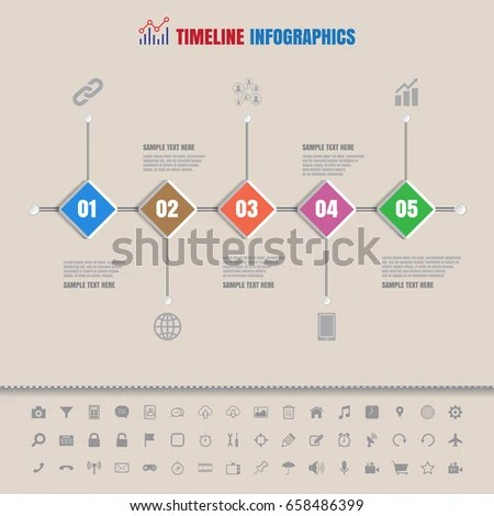 Design Template Modern Business Timeline Infographic Stock Vector - sample business timeline