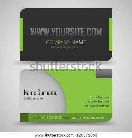 Business Card Stock Images, Royalty-Free Images \ Vectors - name card example