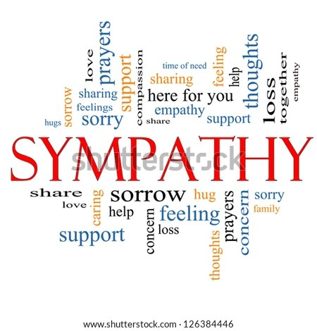 Sympathy Word Cloud Concept Great Terms Stock Illustration 126384446