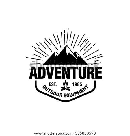 Mountain Hipster Logo Template Stock Vector 335853593 - Shutterstock