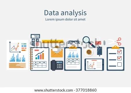 Analysis Concept Flat Design Process Research Stock Vector 377018860