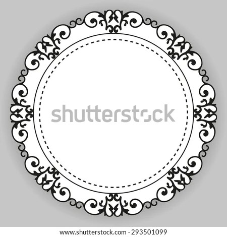 Vintage Calligraphy Decorative Business Background Vector Stock