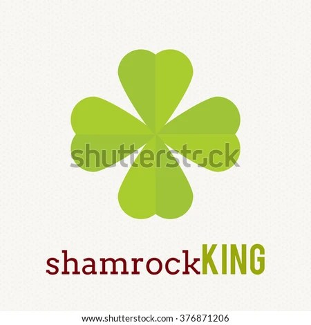 Clover Leaf Plant Logo Icon Template Stock Vector 376871206 - shamrock template